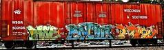 IMG_5829 (mightyquinninwky) Tags: railroad graffiti tag graf tracks railway tags tagged railcar rails boxcar graff graphiti freight trainart fr8 railart boxcarart freightart taggedboxcar paintedboxcar paintedrailcar taggedrailcar