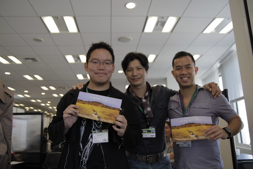 Dustin Nguyen, Ming Jin and I, between TGP meetings