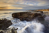 Test of Time, Hole in the Wall Beach, Davenport, California (PatrickSmithPhotography) Tags: ocean sunset sea sky seascape beach rock landscape panther holeinthewall