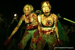 Zombie Sisters (RightBrainPhotography) Tags: fiction arizona holiday halloween phoenix flesh feast dead march insane scary downtown you zombie walk apocalypse az brain eat brains horror undead corpse spiritual fest devour humanbeing voodoo parasite controlled illness 2010 evildead residentevil nightofthelivingdead pandemic heritagesquare meateater reanimated notvegans zombiewalk rossonhouse zonie brainsforbreakfast rightbrainphotography 20101029 georgeramero rebelwithoutapulse toxoplasmosagondii toxoplasmosa heysistersoulsister