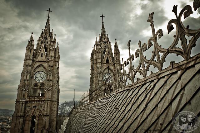 Roof Of Basilica del Voto Nacional