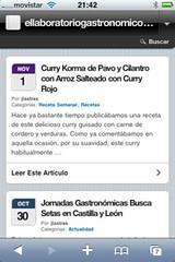 ellaboratoriogastronomico.com para iPhone