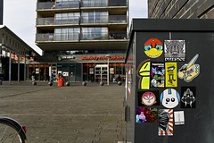 The Hague, Holland (Crimson Cisa) Tags: streetart holland graffiti sticker stickerart stickers nederland thenetherlands adhesive trade thehague kentuckyfriedchicken abnamro fiets stickercombo cisa straatkunst leyweg stickertrader mrcisa crimsoncisa stickersworldwide