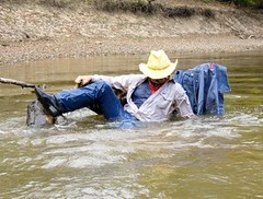 43 WS Sliding back in warm waters awesome (Wrangswet) Tags: swimming wranglers cowboyboots swimminginclothes riverhiking swimmingfullyclothed guysinwetjeans wetladz wetwranglers wetcowboy wetcowboyboots wetwranglerjeans meninwetjeans swimminginboots rivecanal