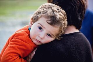 Displaced family in the settlement Metekhi, Shida Kartli region