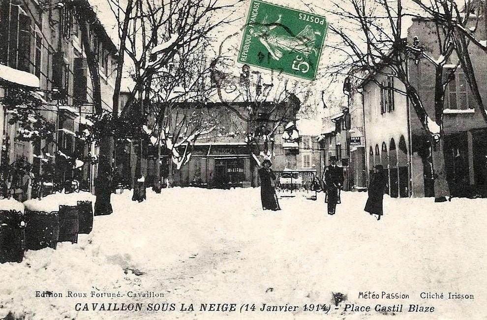 neige à Cavaillon le 14 janvier 1914