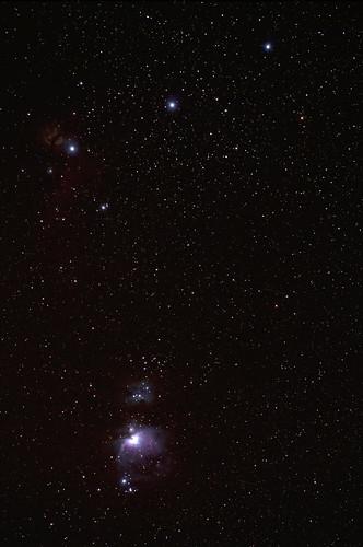 オリオン座 三星とM42星雲