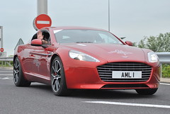 Aston Martin Rapide S (D's Carspotting) Tags: aston martin rapide s france coquelles calais red 20130624 aml1 le mans 2013 lm13 lm2013