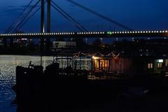 River peace (Master Iksi) Tags: river night peaceful peace lights boat enjoy sky bridge sigma1750 nikond7100 walk riverside belgrade blue serbia