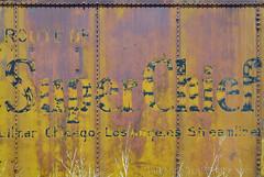 Super Chief (Patinagal) Tags: rust patina train signage relic decay