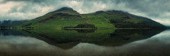 the beautiful moods of buttermere. (akh1981) Tags: panorama lake landscape lakedistrict wideangle cumbria clouds manfrotto mountains trees travel outdoors moody calm tranquil uk water reflections
