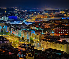 Beautiful Lisbon, Portugal (Stuck in Customs) Tags: stuckincustomscom treyratcliff lisbon portugal sentra trey ratcliff pool bath blue 80stays rcmemories treyratcliffcom hdr hd stuck in customs daily photo rr square colour color photography tutorial time red green orange yellow lights stained glass window wall dome 2017 ceiling ancient april landscape skyline cityscape building glowing light night structure architect nighttime citylights view hassleblad x1d