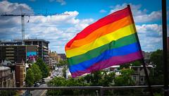2017.07.02 Rainbow and US Flags Flying Washington, DC USA 7203