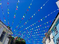 Bunting festival (flowergirlaaa) Tags: colour sky cornwall falmouth flags bunting