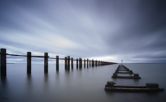 Into the blue (explored) (Mark Leader) Tags: thames shoeburyness essex longexposure calm peaceful tranquil tranquility serene serenity dreamscape landscape seascape