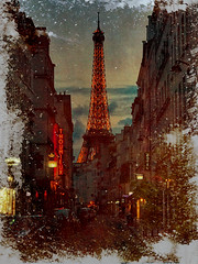 Timeless (gimmeocean) Tags: hss sliderssunday eiffeltower paris france iphoneography iphonenography texture formymom restinpeace