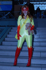 2009 NYCC Comic Con Firestar and Miss Lion (amber-the-stylist) Tags: comics jones costume women cosplay spiderman xmen superhero marvel comiccon angelica mutants firestar javits nycc amazingfriends misslion mslion
