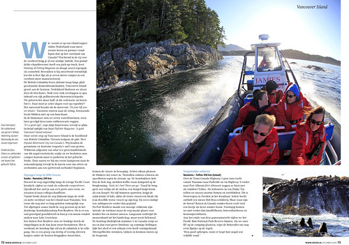 Vancouver Island for REIZEN Magazine, pages 3&4.