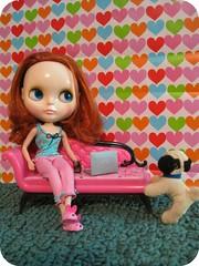 79/365 (hello jenny) Tags: doll laptop pug couch chuck blythe pajamas bunnyslippers 365blythe friendlyfreckles