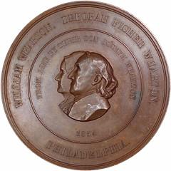 1869 Joseph Wharton Medal obverse