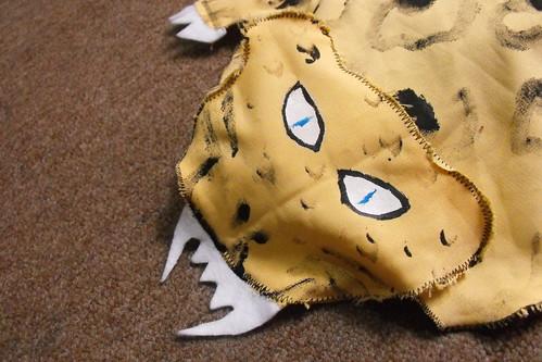 Jaguar dientes con filo