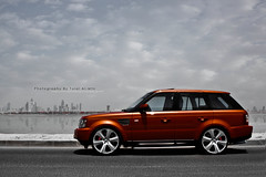The Range Rover (Talal Al-Mtn) Tags: red sport rover system range 2009 comp exhaust brembo hse alghanim  orangerange 22inchrims rangeroversporthse inkuwait talalalmtn  bytalalalmtn photographybytala
