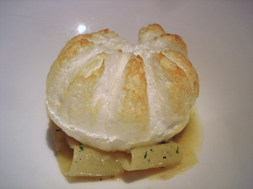 Souffled Egg with Creamed Potatoes