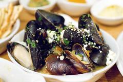 Mussels, Gigante Beans, Feta