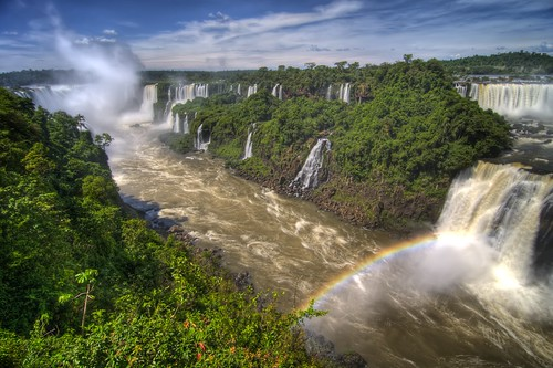Rainbow on the Iguassu River