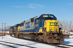 CSX 8570 and CSX 5227 at Hallett