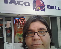 I'm at the Taco Bell
