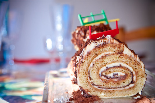 The traditional French Christmas Log