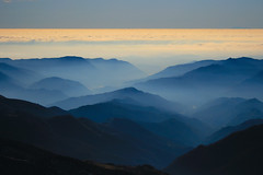 La nebbia agli irti colli / Fog over the mountains (AndreaPucci) Tags: italy mountains fog clouds italia nuvole day tuscany toscana nebbia monti pistoi