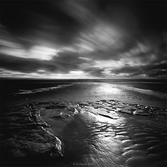 Dunraven BW ii (Scott Howse) Tags: longexposure sky bw cloud beach rock wales bay sand lee ripples filters southerndown dunraven nd110 09h