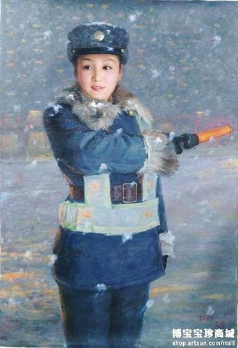 Traffic Policewomen Paintings - Art from North Korea 4280409811_dd164d3e6d