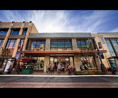 Anthropologie - The Grove (isayx3) Tags: street people motion blur mall shopping la store losangeles nikon angle thegrove wide tracks sigma rails anthropologie f28 d3 14mm plainjoe isayx3