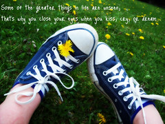 ConverseForever (Bubbles) Tags: flowers nature field grass shoes kiss dream sneakers quotes converse cry chucks chucktaylors dandelions
