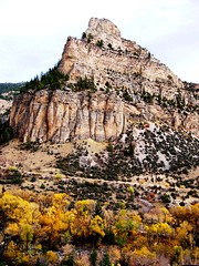 WY-US16-10sleepCanyon prmntory vrt best 10-06 (lauramdellinger) Tags: cliff canyon wyoming bighornmountains us16 tensleepcanyon