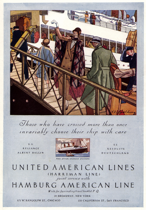 Vintage Ad #1,000: Choosing a Ship With Care