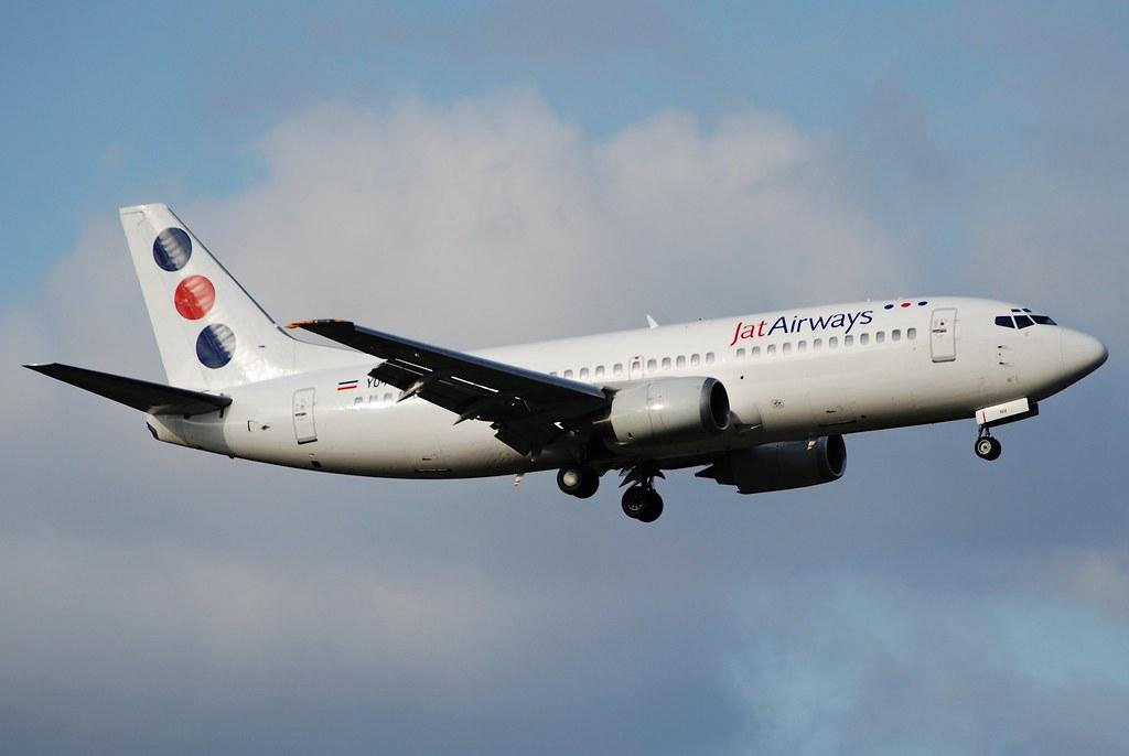 Jat Airways Boeing 737-300; YU-ANV@ZRH;3 by Aero Icarus, on Flickr