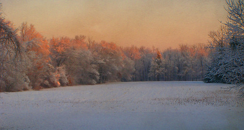 First Snow Sunrise