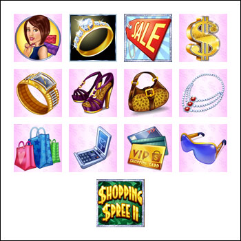 free Shopping Spree 2 slot game symbols