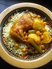 Rechta Noodles with Chicken Stew (Warda | 64 sq ft kitchen) Tags: chewy tender bestnoodlesever rechta algeriannoodles