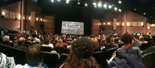 "Panorama: My very first Sundance screening at the Eccles Theater (""Howl""). 1300+ seats"