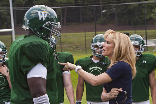 Quinton Aaron and Sandra Bullock discuss 'The Blind Side'.