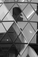Broken reflections (tommyajohansson) Tags: blackandwhite bw reflection london monochrome reflections diamond gherkin swissre 30stmaryaxe tower42 thegherkin cityoflondon natwesttower faved squaremile diamondshapes diamondshape tommyajohansson thegherkinbuilding