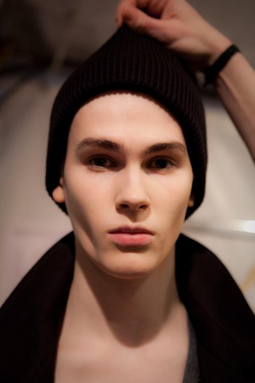 Dior, homme, bakstages, mannequin