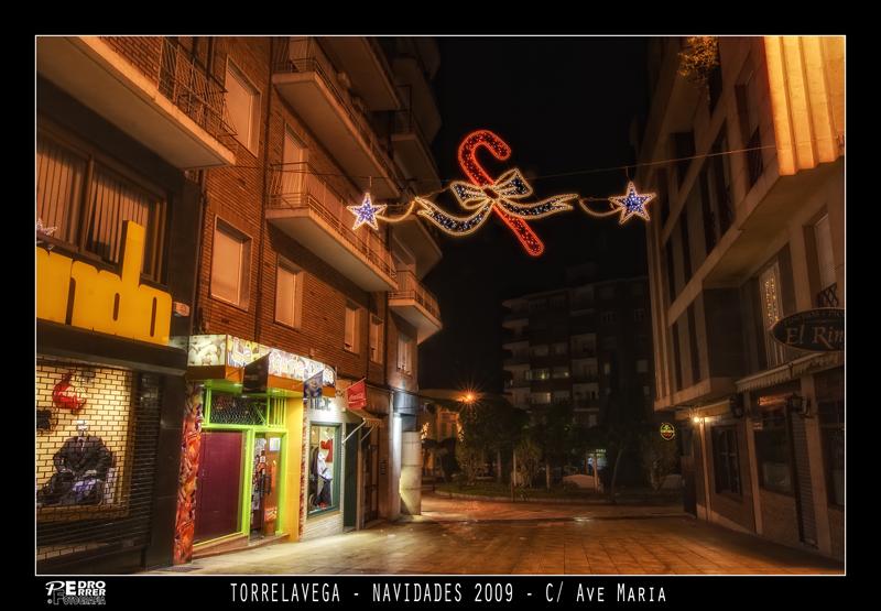 Torrelavega - Calle Ave María - Navidades 2009