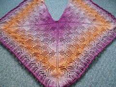 054 Frost Diamond Shawl in GOLDEN PURPLE