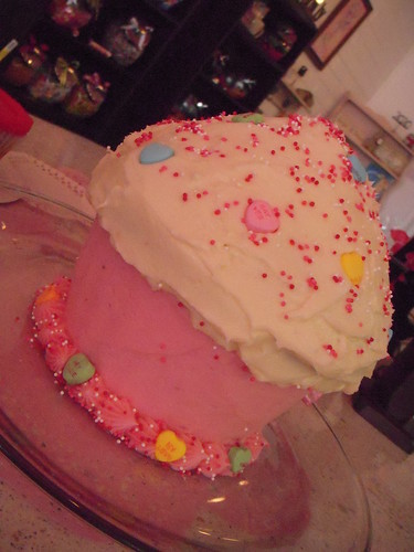 Giant Valentine Cupcake